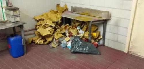 Hige pile of junk left.
