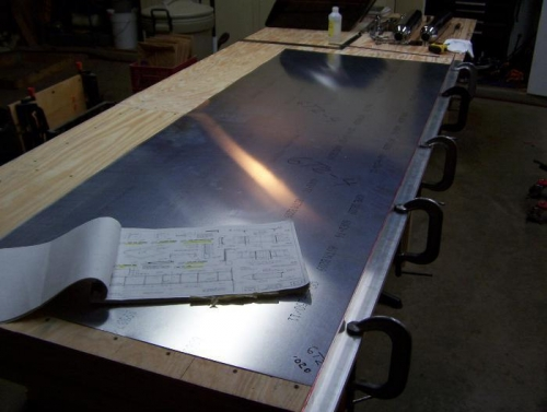 Clamp metal to the table
