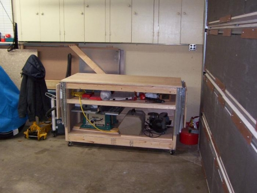 Cabinets behind bench raised 6