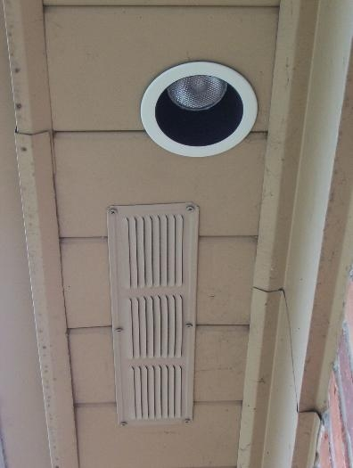 Soffit vents and Can Lights
