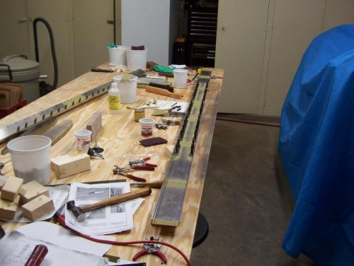 Waiting for the primer to dry to begin riveting.