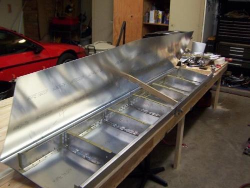 Extend Rib rivet lines to rear spar