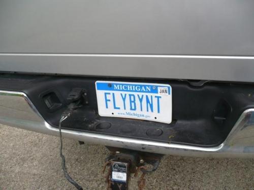 Steven's license plate