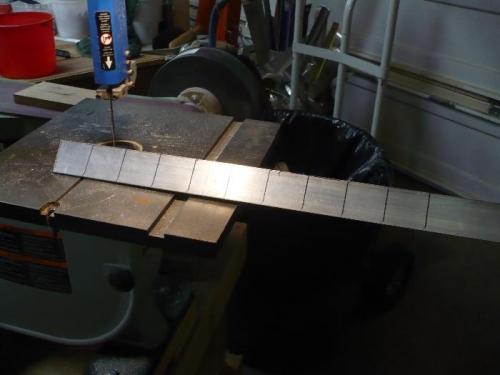 Cut angles & drill hole