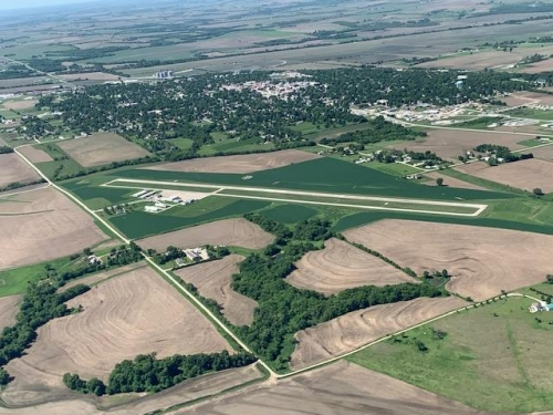 I like to pick out a small town airport and do a few T & G's.  Today's airport, Falls City.