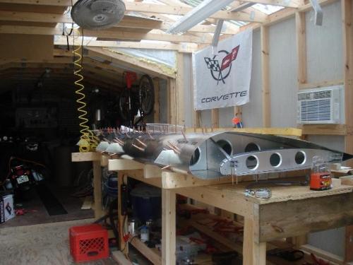 assembled wing minus end panels