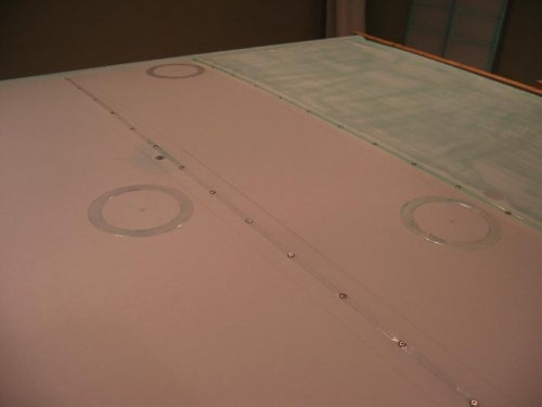 Three of eight inspection rings prior to patches