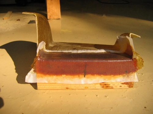 Used 2x4 as mold