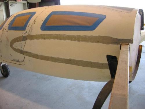 Left strake fuselage prep