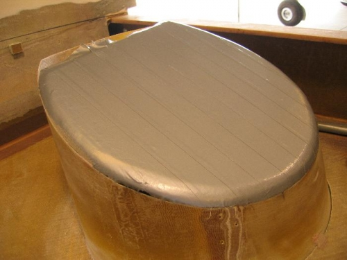 Mold covered with release tape
