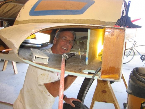 Me with my head in wheel well