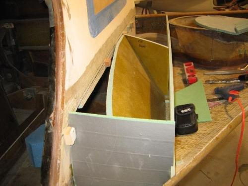 Duct taped bulkhead at forward strake