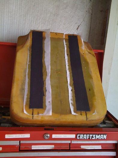 Bottom of pilot seat pan