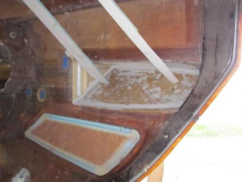 Slant bulkheads braced in