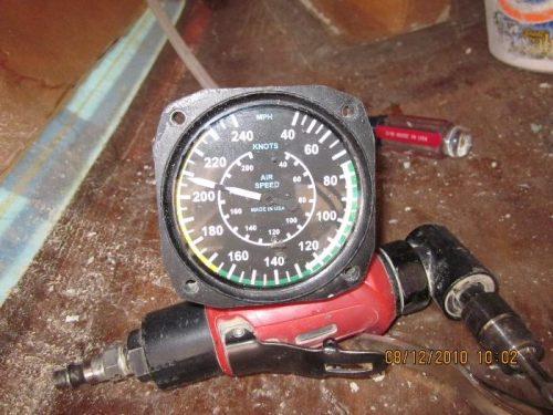 Airspeed indicator used for leak check
