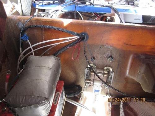 Wires thru canard bulkhead