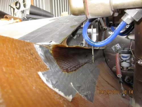 Lower cowling flange