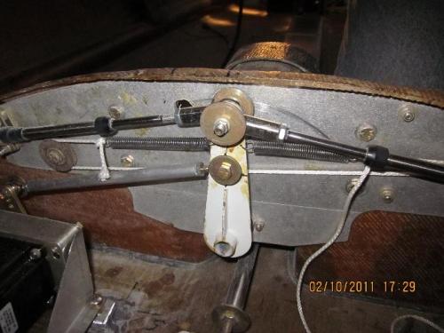 Roll servo and trim springs