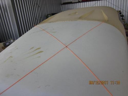 X marks the spot for oil door