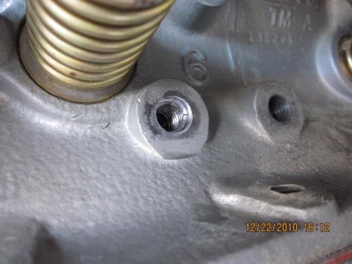 Helicoils in engine mount holes