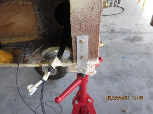 Tiedown installed