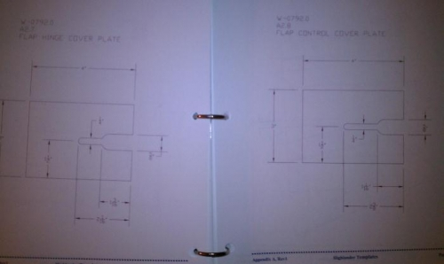 Flap fabric plate diagram