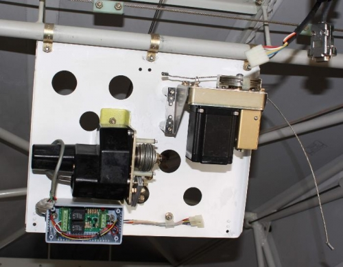 Top view of fold down servo panel