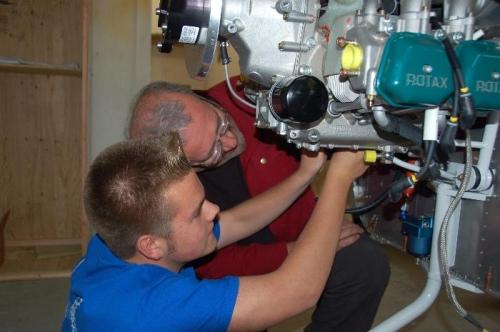 Grandfather/grandson install fuel drain