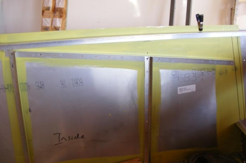 L angle supports for baggage shelf.