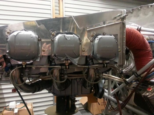 Left side of engine