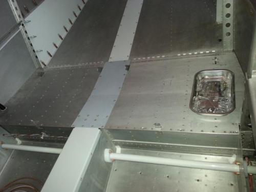 Passenger seats flooring installed