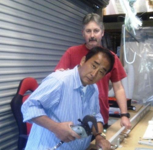 Morishta and me working on main spar