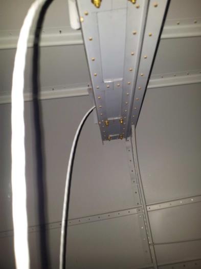Installed brass hardware