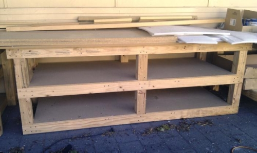 Bench 2 - Lower shelf lowered