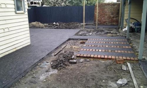 Aggregate Concrete down