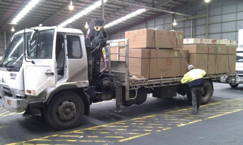 At the Freight Forwarders