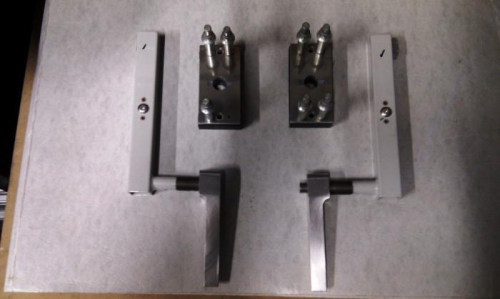 Both doors handles and retention plates