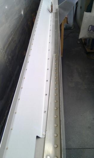 Pop rivets for the elevator fairing