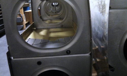 Used machine holes - clean and tidy