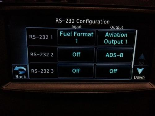 GTN650 RS232 settings