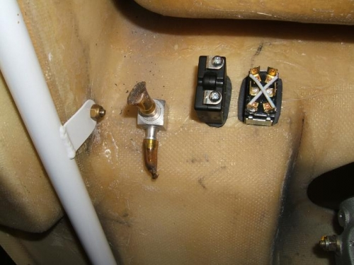 Clutch switch, breaker and fuel valve