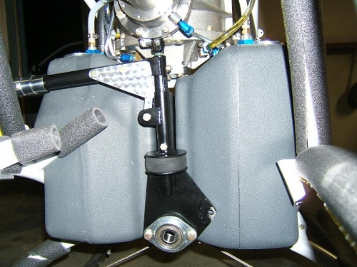 Clutch hanging in place on trans