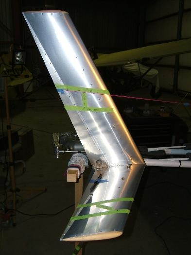 Paint lines marked on tail