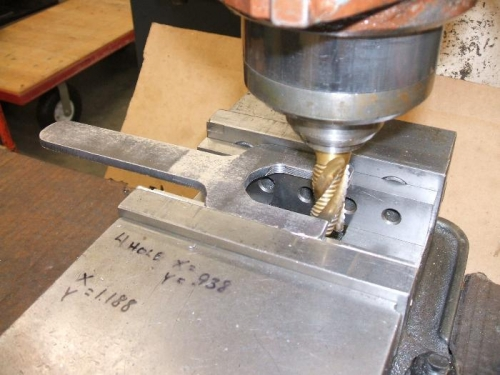 Milling the jaws of the thin wrench