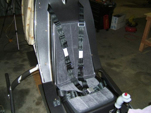 Seatbelts installed