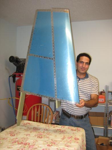 Finished vertical stabilizer