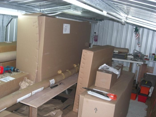 All boxes in shed