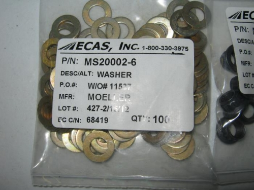 Smaller outside diameter washers