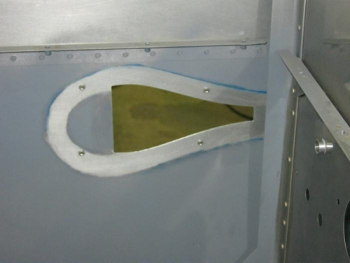 Removed paint from interior for nacelle