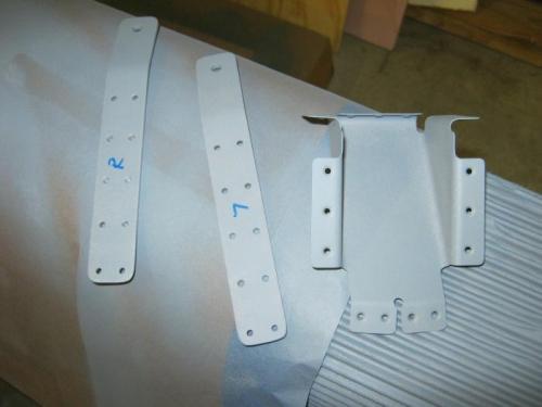 Shoulder harness anchors and canopy slide rail guide brfacket primered